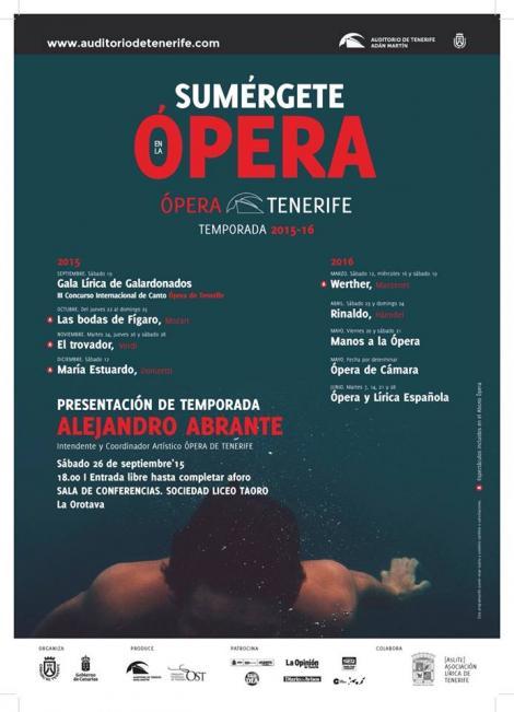 Presentación temporada ópera de tenerife