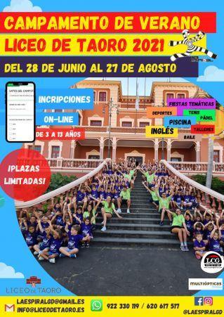 Campamento de verano Liceo de Taoro 2021