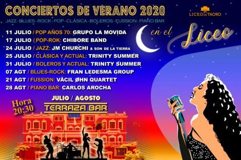 Conciertos de verano 2020
