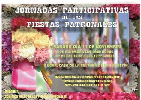 Jornadas participativas Fiestas Patronales