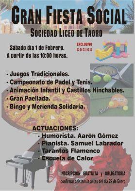 Gran Fiesta Social - Sábado 1 de Febrero
