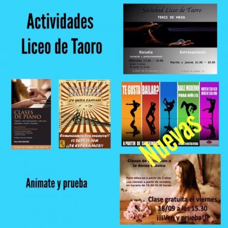 Actividades Liceo de Taoro para el nuevo