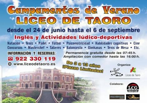 Campamento de verano Liceo de Taoro