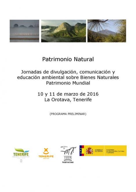 Jornadas de divulgación - Patrimonio Natural