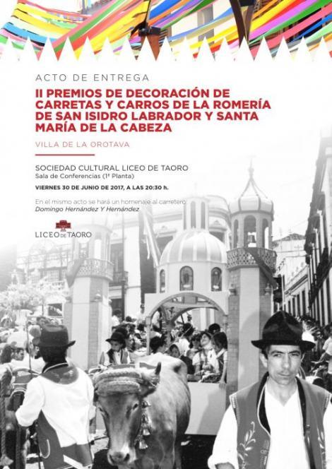 II Premios de decoración de Carretas y Carros Romería 2017