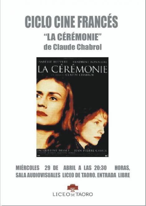 Ciclo de cine Francés - La cérémonie