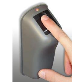 Recogida huellas control de acceso