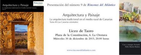 """Presentación del último volumen del monográfico """"Arquitectura y Paisaje"""""""