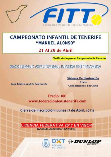 Tenis - Campeonato Infantil de Tenerife