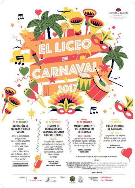 Disfruta del Liceo en Carnaval