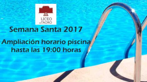 Horario piscina Semana Santa 2017