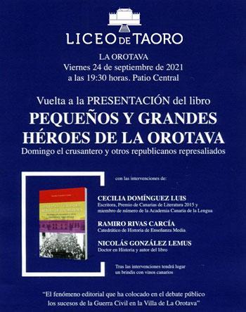 Presentación libro Pequeños y Grandes Héroes de La Orotava