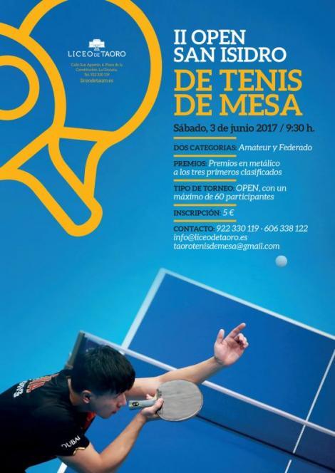II Open San Isidro de Tenis de mesa