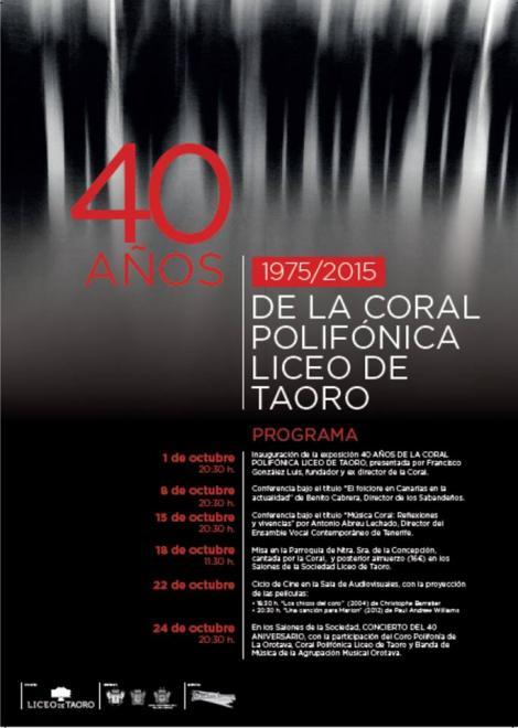 La coral polifónica celebra su 40 cumpleaños