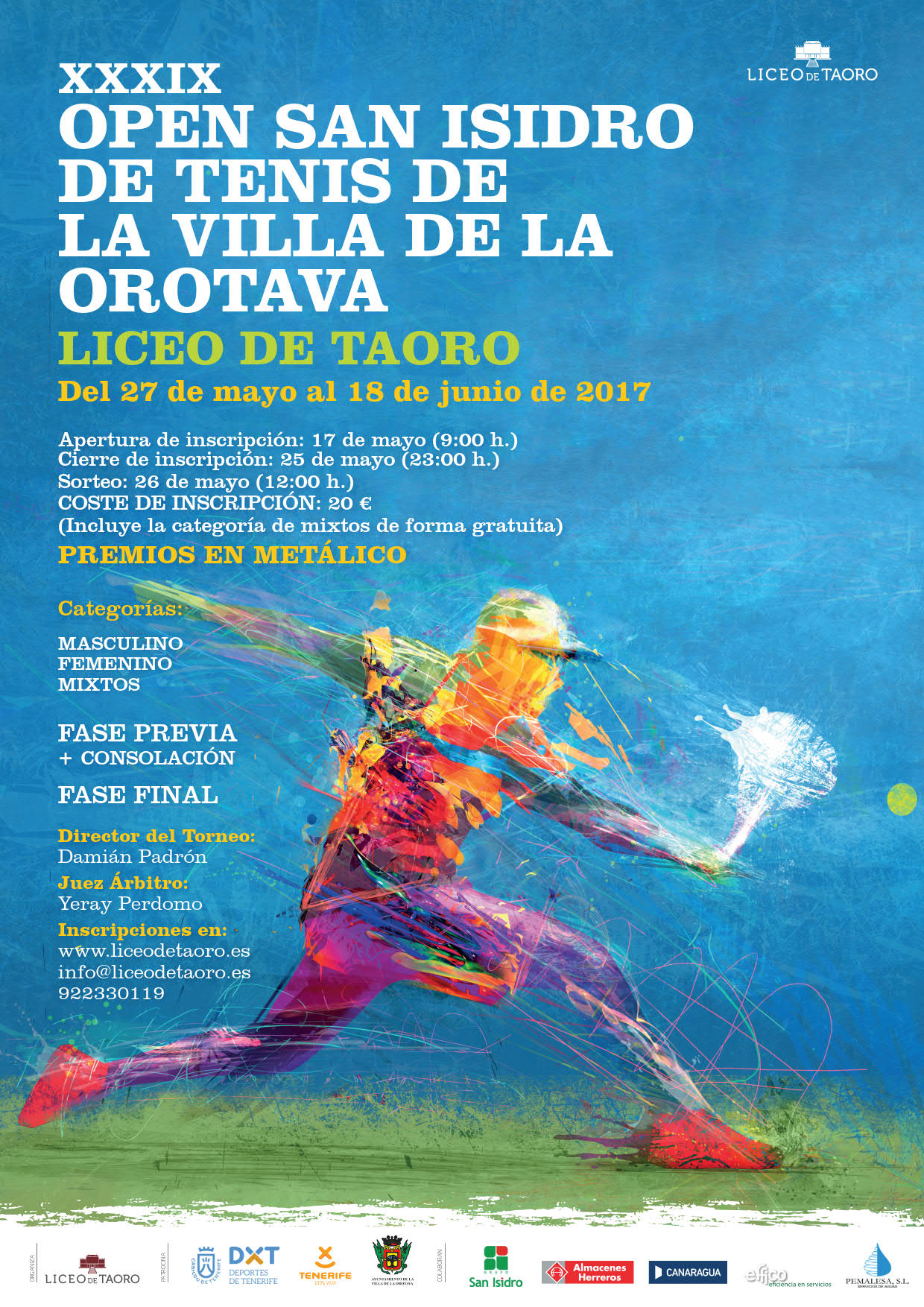 CARTEL A4 OPEN SAN ISIDRO TENIS 2017-AF 1