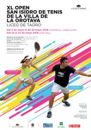 CARTEL A3 OPEN SAN ISIDRO TENIS 2018-AF 1